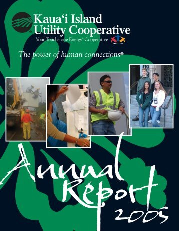 2005 Annual Report - Kauai Island Utility Cooperative