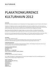 plakatkonkurrence kulturhavn 2012 - Danish Design Association