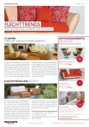 Flechttrends 01/2013 - Katz-Flechtmöbel-Manufaktur