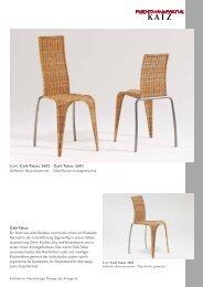 Stuhl: Café Tabac 2602 ∙ Café Tabac 2601 Geflecht: Boondootrohr ...