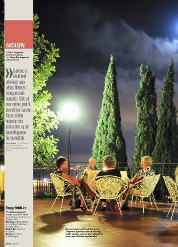 Se artikel om Gislevs rejse til Sicilien, fra Fyens ... - Gislev Rejser