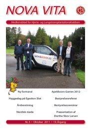 Nova Vita 2011-3 - Hjerte- og Lungetransplantationsklubben