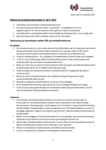 Møde 181110 - Referat - Krogårdskolen