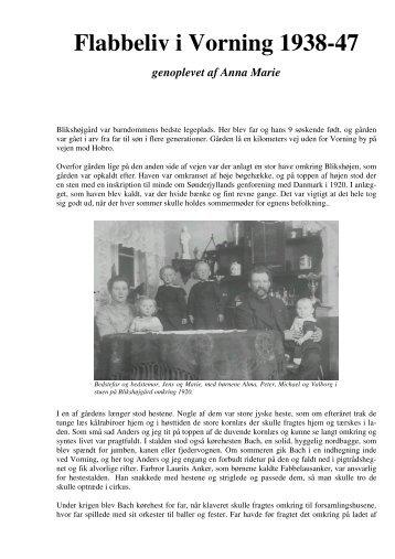 Flabbeliv i Vorning 1938-47 genoplevet af Anna Marie - Tjele arkiv