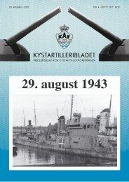 Dagene omkring den 28.-29. August 1943 - Kystartilleriforeningen