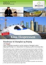 Hent brochure for Kina Ekspressen - Jysk Rejsebureau