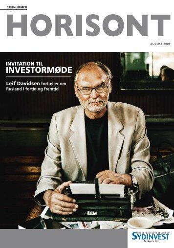 INVITATION TIL INVESTORMØDE Leif Davidsen ... - Sydinvest