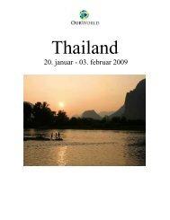 thailand rundrejse 2009 - OurWorld