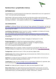 Nyhedsmail Kano- og Kajakklubben Gudenaa SEPTEMBER 2012: