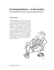 Forskningsdatabasen – en tids maskine - Jette Rostock