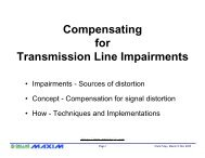 Compensating for Transmission Line Impairments