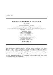 14. januar 2013 DANSKE INVEST HEDGE FIXED INCOME ...