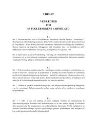 Forslag til nye vedtægter for Varmelauget - Fuglebakken