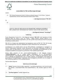 Vejl. oversættelse af trademark license agreement Til certificerede ...