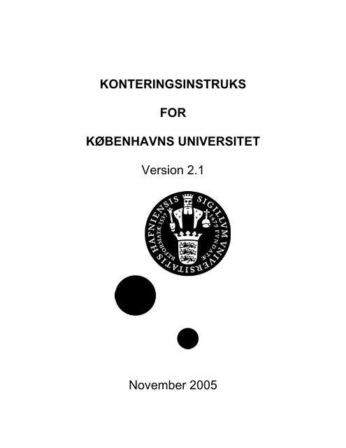 konteringsinstruks for københavns universitet