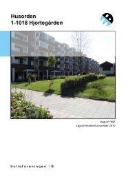 Husorden 1-1018 Hjortegården - Boligforeningen 3B
