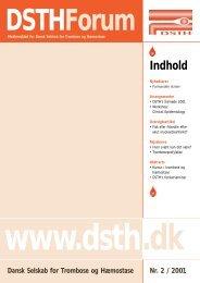 Indhold - Dansk Selskab for Trombose og Hæmostase