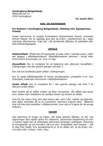 Opsigelse af lejemål A-ordning - Vordingborg Boligselskab