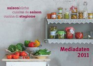 Termin- und Themenplan - Saisonküche
