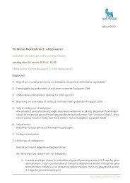 Til Novo Nordisk A/S' aktionærer