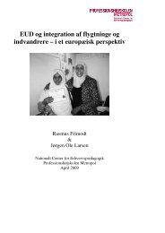 EUD og integration af flygtninge og indvandrere – i et europæisk ...