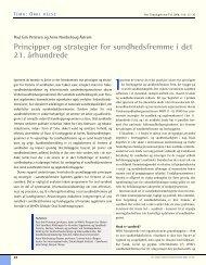 Principper og strategier for sundhedsfremme i det 21. århundrede