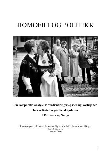 Homofili og politikk - Bora - Universitetet i Bergen