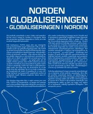 - GLOBALISERINGEN I NORDEN - Foreningen Norden