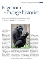 Et genom - mange historier - Aktuel Naturvidenskab