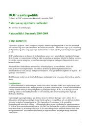 DOF's sigtelinier - Dansk Ornitologisk Forening