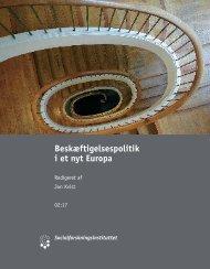 Beskæftigelsespolitik i et nyt Europa - Get a Free Blog