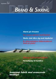 DBI Brand & sikring - Dansk Brand- og sikringsteknisk Institut