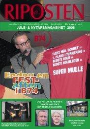 jule- & nytårsmagasinet 2008 - Fodboldklubben B74