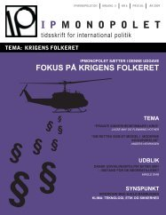fokus på krigens folkeret - IPmonopolet