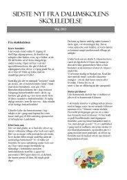 Nyhedsbrev fra Dalumskolen maj 2013