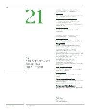 ny carlsbergfondet beretning for året 2011