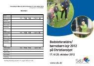Bedsteforældre/ børnebørn lejr 2012 på Christianslyst - SdU