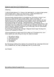 Årsplan for faget historie på Al-Salahiyah skolen Indledning I ...