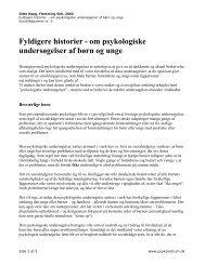 om psykologiske undersøgelser af børn og unge - PsykCentrum