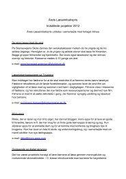 Årets Læseinitiativpris Indstillede projekter 2012 - Viden om Læsning