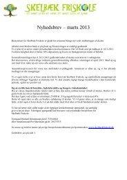 Nyhedsbrev – marts 2013 - Skelbæk Friskole