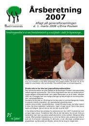 Årsberetning 2007 - PS Landsforening