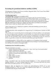Screening for gestationel diabetes mellitus (GDM) - DSOG