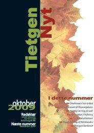 TietgenNyt - oktober 2009 - TietgenSkolen
