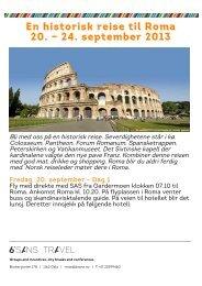 En historisk reise til Roma 20. – 24. september 2013 - 6.sans AS