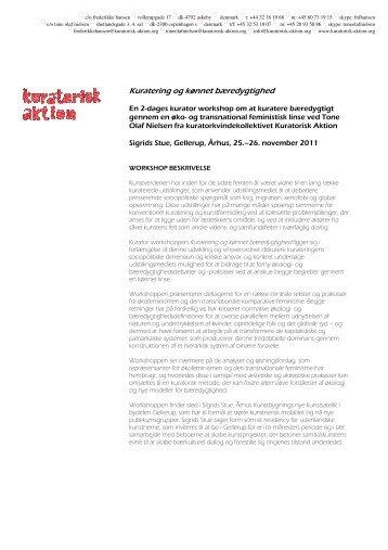 Kuratering og kønnet bæredygtighed - Det Kongelige Danske ...