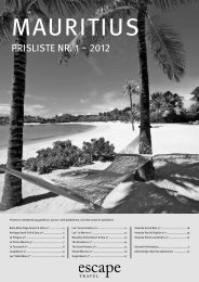 PRISLISTe nR 1 – 2012 - Escape Travel