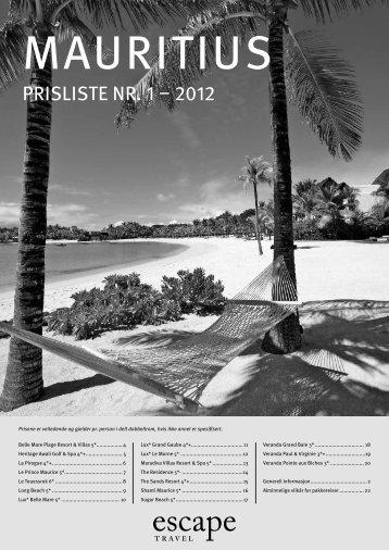 PRISLISTe nR 1 – 2012 - Escape Travel