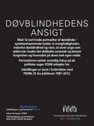 Klik her for foto-version i pdf - Foreningen af danske døvblindfødte