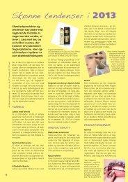 Skønne tendenser i 2013 - Fagbladet Kosmetik